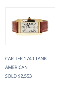 sell cartier tank watch